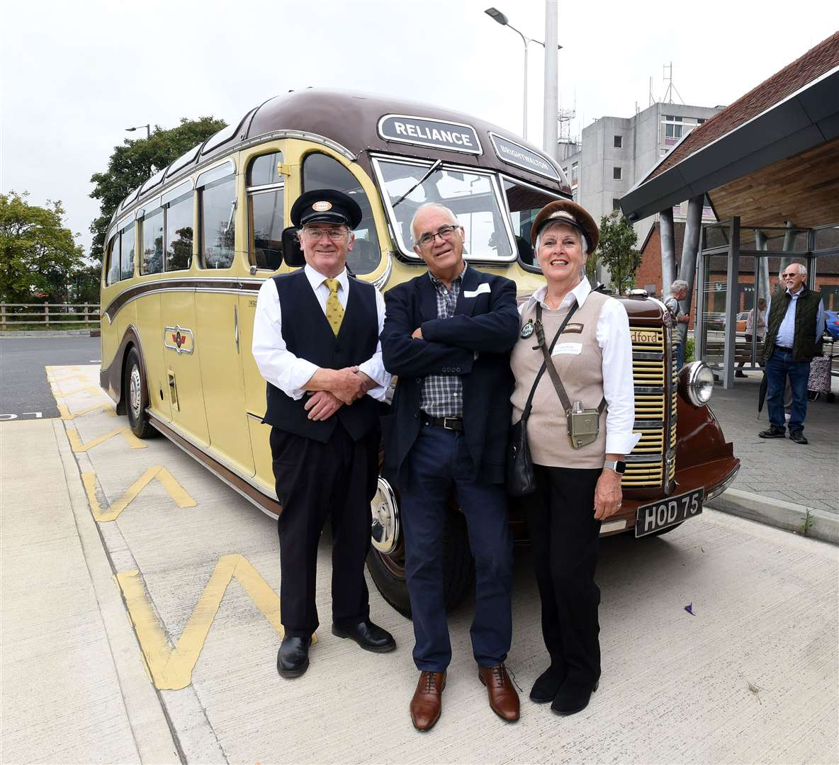 Barrie Hedges with conductor Judith Munday and pilot Mervyn Annetts