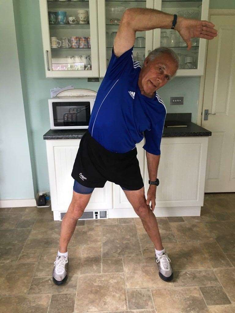 73-year-old Mike Hart has been running virtual fitness classes throughout the pandemic over Zoom.