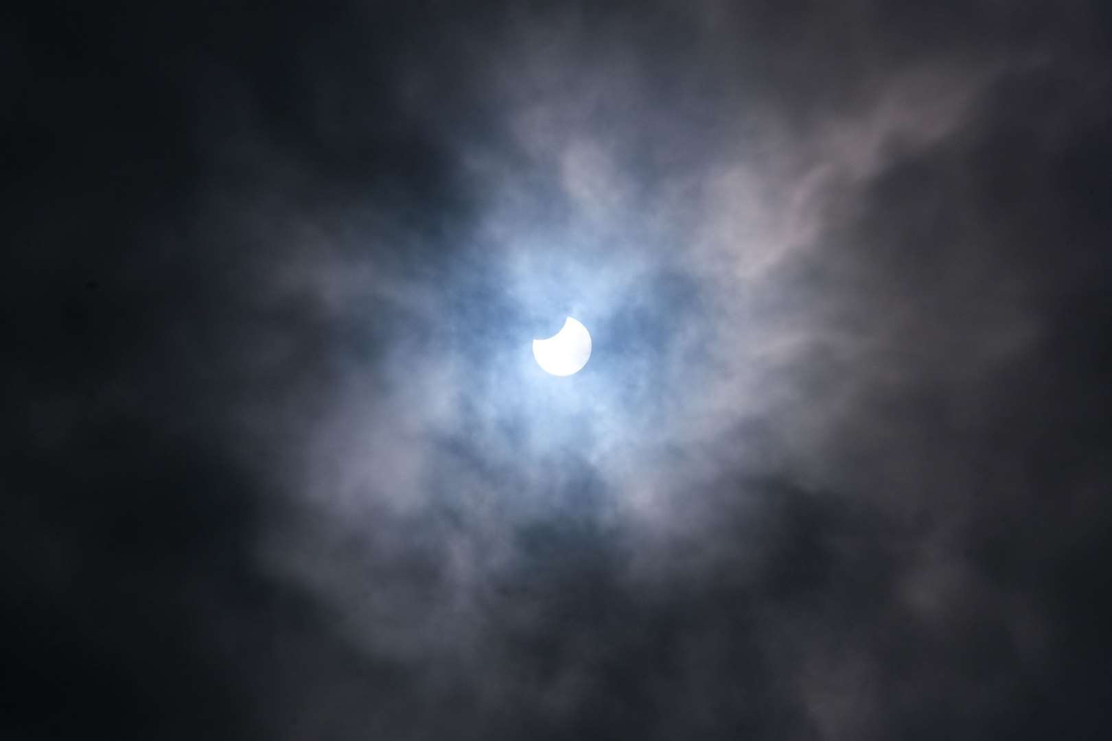 Partial solar eclipse Photo: Phil Cannings