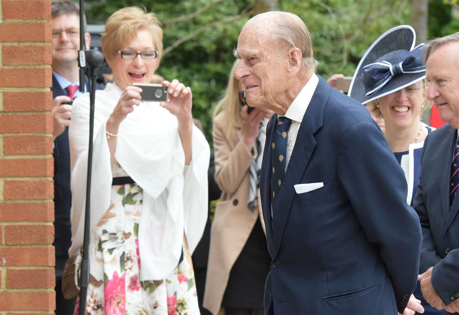 The Queen and His Royal Highness The Prince Philip, Duke of Edinburgh visiting Pangbourne College for the centenary of the college