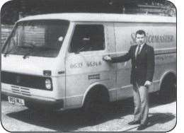 Nick, pictured in 1991 with his van.  (48922676)