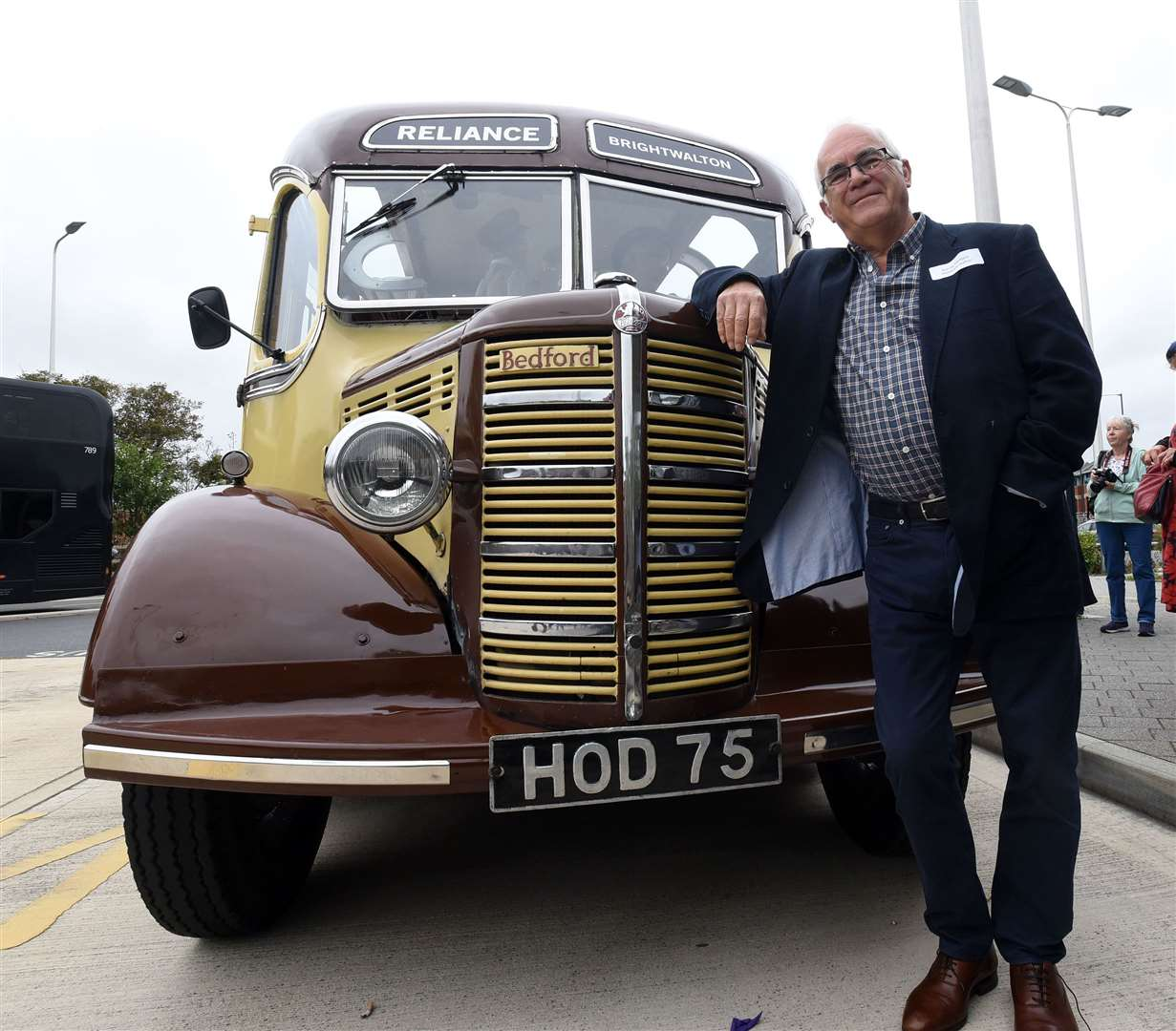 Founder of Reliance Motors, the grandson of George Hedges, Barrie, with the Bedford