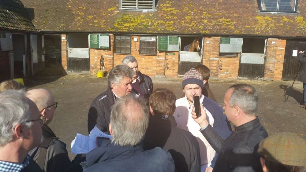 Media at the Paul Nicholls stable visit this morning