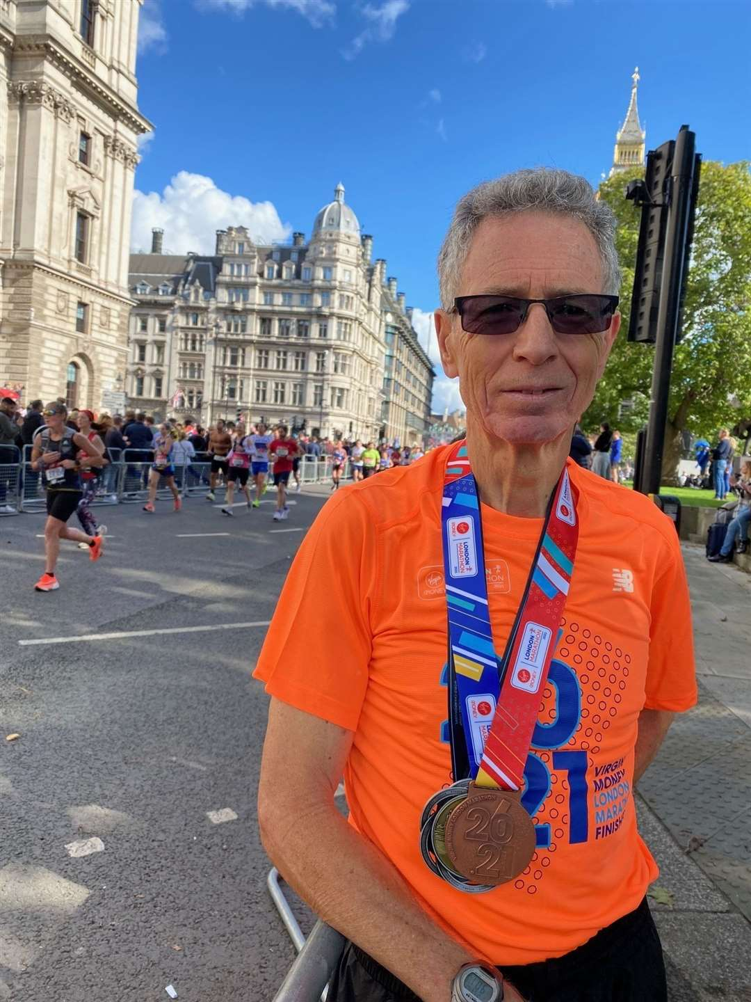 Mike Sheridan became the first Briton over 70 to complete a marathon in less than 3 hours