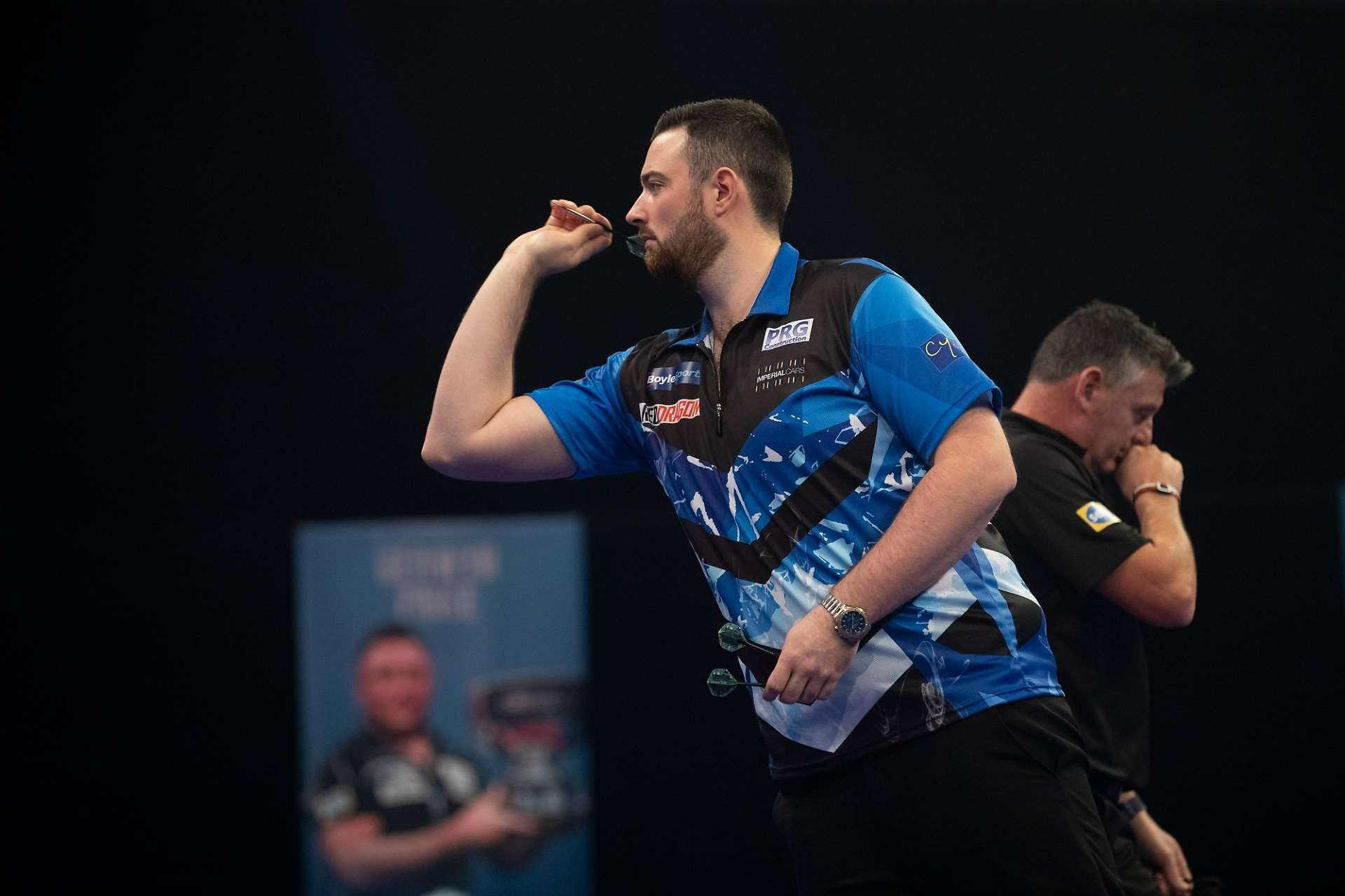 Luke Humphries was due to face Justin Pipe - Credit: Lawrence Lustig/PDC