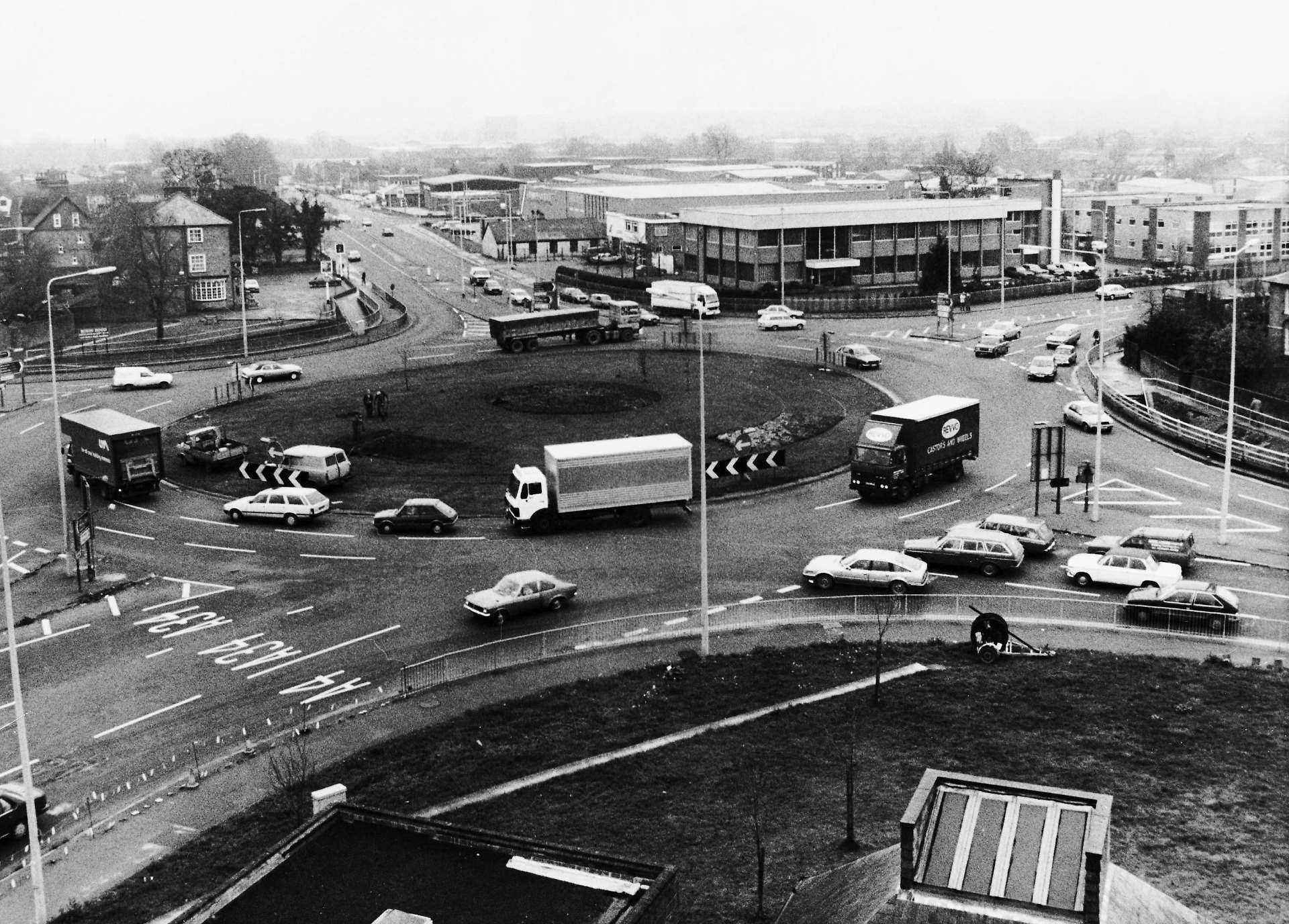 The Robin Hood roundabout in Newbury